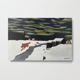 African American Masterpiece 'The Getaway' by Horace Pippin Metal Print