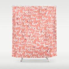Love Script Shower Curtain
