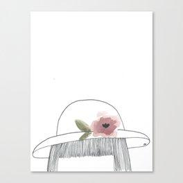 chapeau avec fleur Canvas Print