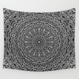 Zen Black and white Mandala Wall Tapestry
