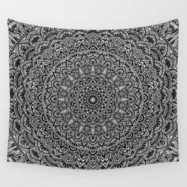 Zen Black and white Mandala Wall Tapestry