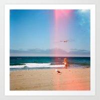 Beach Haze Art Print