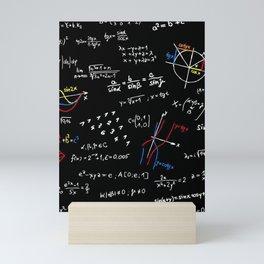 math blackboard Mini Art Print