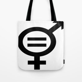 Equality - Merged Male and Female Gender Symbols Tote Bag