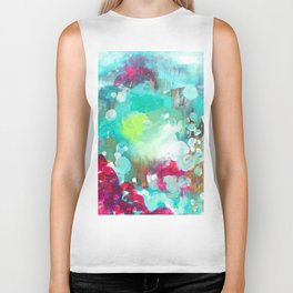 Abstract Oil 8 Biker Tank