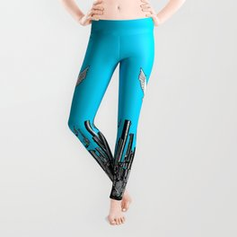 Peace of the Action BLUE / Peace concept Leggings