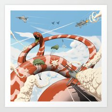 Attack of the Giant Muraena Art Print