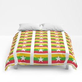 Flag of Myanmar 3-ဗမာ, မြန်မာ, Burma,Burmese,Myanmese,Naypyidaw, Yangon, Rangoon. Comforters
