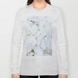 White hortensia flowers Long Sleeve T-shirt
