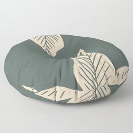 Surrounded by Plant Lovers - Green & Beige Floor Pillow