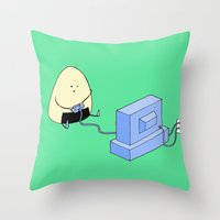video games Throw Pillows featuring Onigiri video games! by RAIKO IVAN雷虎