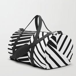 Abstract Striped Triangles Duffle Bag