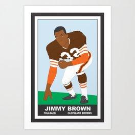 Browns - Jim Brown - 1961 (Vector Art) Art Print