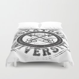 Miskatonic University Emblem (light version) Duvet Cover