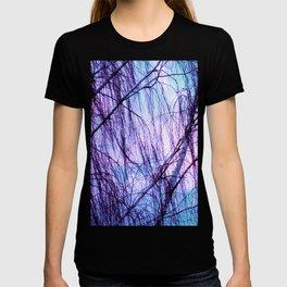 Black Trees Periwinkle Lavender Sky T-shirt