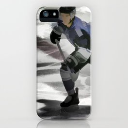 Let's Go! - Ice Hockey Player iPhone Case