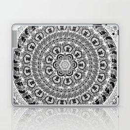 Black Pug Yoga Medallion Laptop & iPad Skin