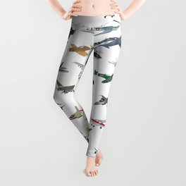 Various Colorful Airplanes and Helicopters Leggings