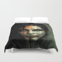 returns Duvet Covers featuring The Widow Returns by Luis C. Araujo
