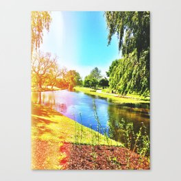 Natural Light On A Salisbury River Canvas Print