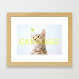 CAT-A-BOLT Framed Art Print