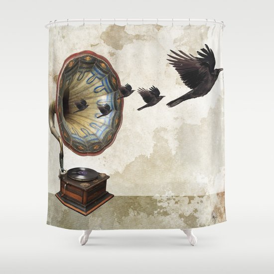 the sound of crows Shower Curtain