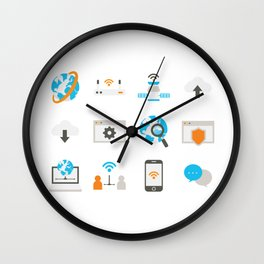 Internet Communication Wall Clock