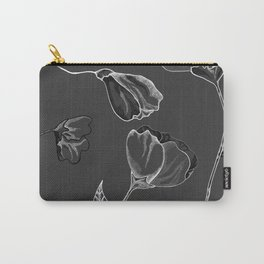 Grey And White Carry-All Pouch
