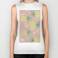pineapples Biker Tanks featuring Pineapples by homotrippin