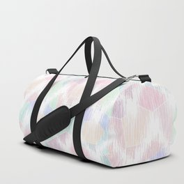 Delicate abstract pattern in pastel colors. Duffle Bag