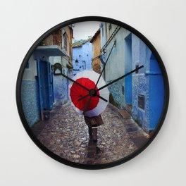 Red Umbrella Wall Clock