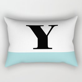 Monogram Letter Y-Pantone-Limpet Shell Rectangular Pillow