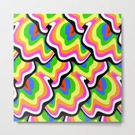 Hippie pattern in rainbow colors Metal Print