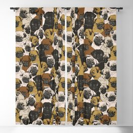 Social Pugs Blackout Curtain