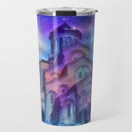 Violet Sky Cathedral of Tbilisi Travel Mug