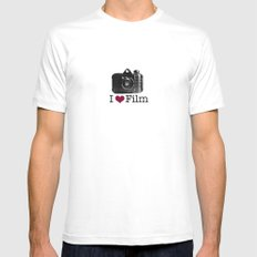 I ♥ Film Mens Fitted Tee White MEDIUM