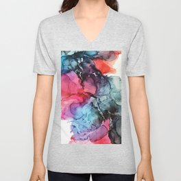 Darkness to Dawn - Mixed Media Painting Unisex V-Neck