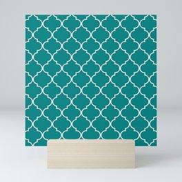 Quatrefoil - Teal Mini Art Print