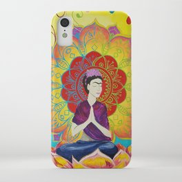 Frida Transcending Mandala and Lotus Blossom iPhone Case