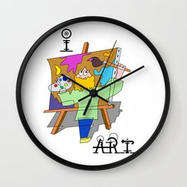 I Art Wall Clock