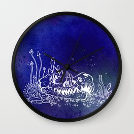 Dino skull – Blue Wall Clock