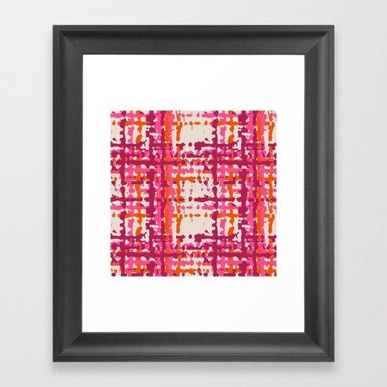 hot weave Framed Art Print