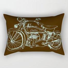 Vintage Indian Motorcycle Rectangular Pillow