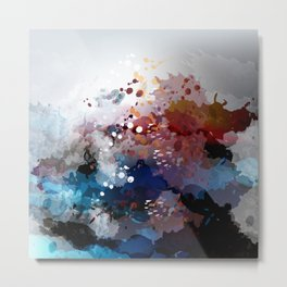 Colorful spots. Abstract grunge fantasy background Metal Print
