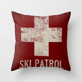 Ski Patrol Sign 2 Throw Pillow