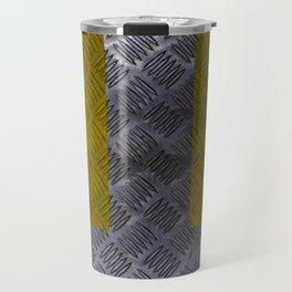 Industrial Arrow Tread Plate - Down Travel Mug