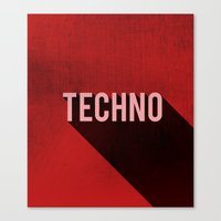 techno Canvas Prints featuring Techno by Barbo's Art