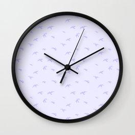 Fading Blue Birds Wall Clock