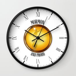 Mormon And Proud Button Wall Clock
