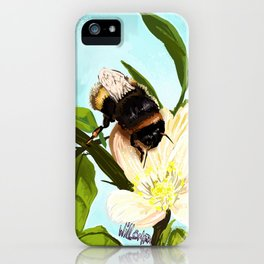 Bee on flower 4 iPhone Case